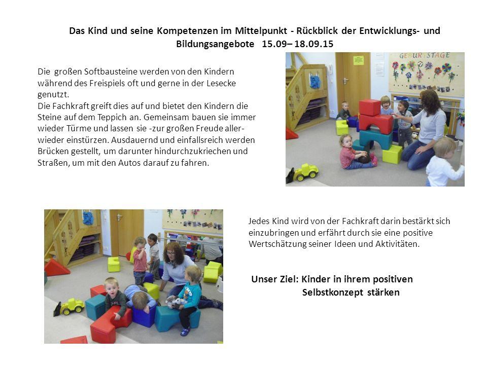 Das Kind und seine Kompetenzen im Mittelpunkt - Rückblick der Entwicklungs- und Bildungsangebote 15.09– 18.09.15 Kommunikative Kompetenzen werden als Schlüsselqualifikation definiert.