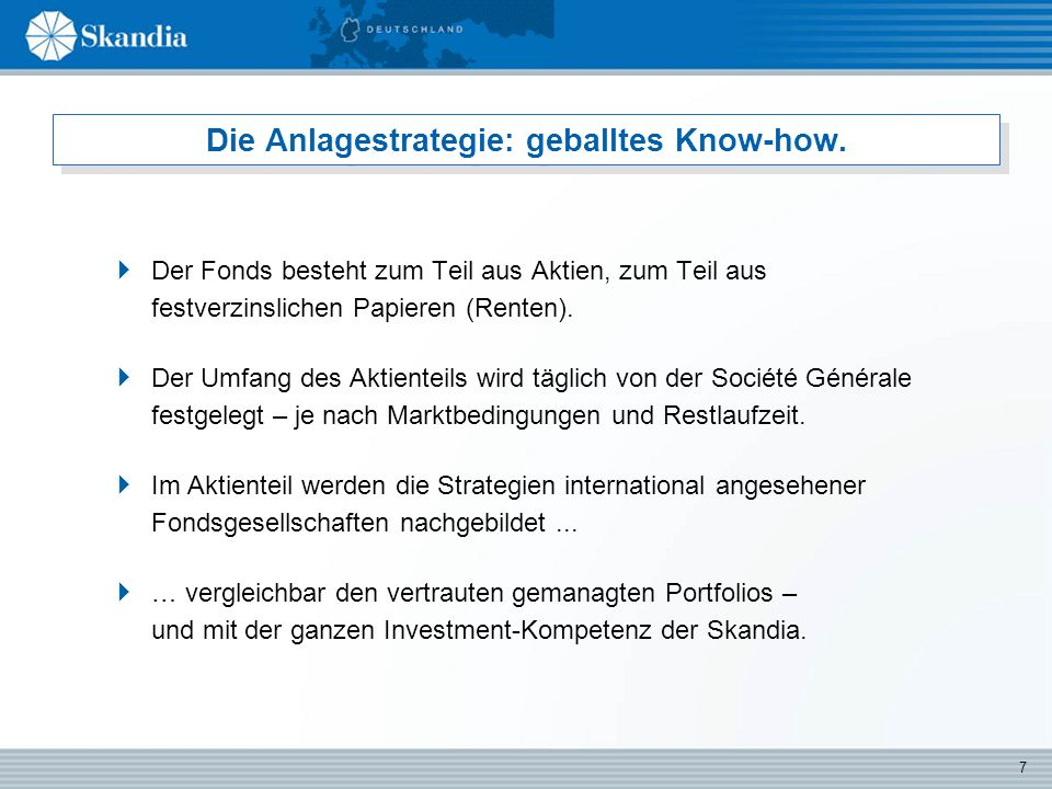 7 Die Anlagestrategie: geballtes Know-how.