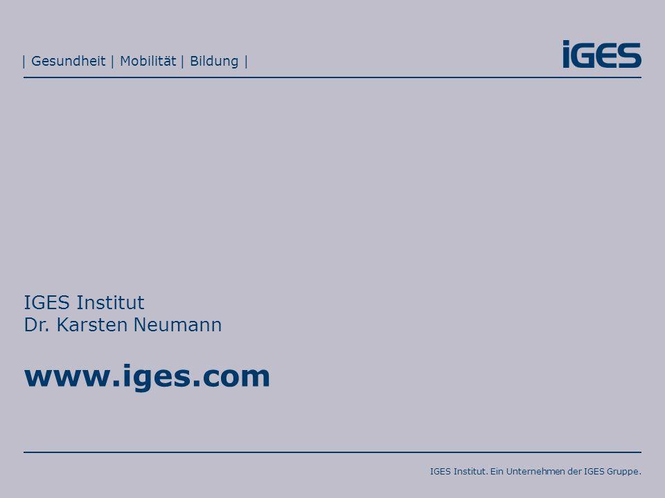 02.11.2015Innovationsfonds – neue Impulse für die sektorübergreifende Versorgung?Seite 10 IGES Institut.