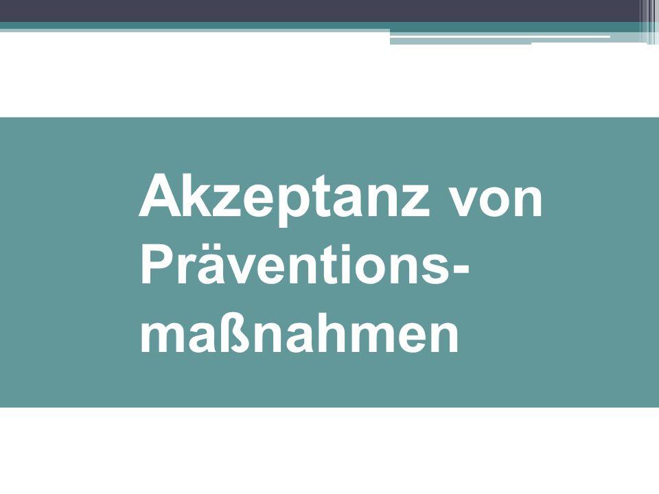 Akzeptanz von Präventions- maßnahmen