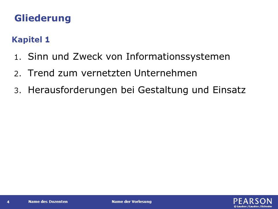 © Laudon /Laudon /Schoder Name des DozentenName der Vorlesung Unterschiedliche Interpretationen des Begriffs Informationssystem 35 Kurbel (2008, S.