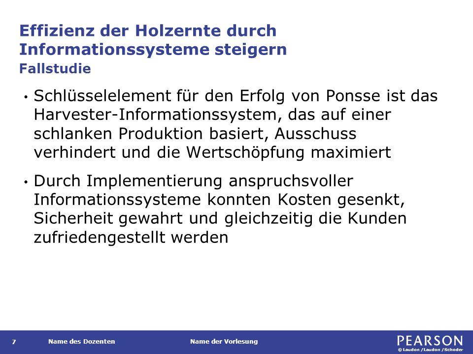 © Laudon /Laudon /Schoder Name des DozentenName der Vorlesung Abweichung der Renditen aus IT-Investitionen 58 Abbildung 1.8