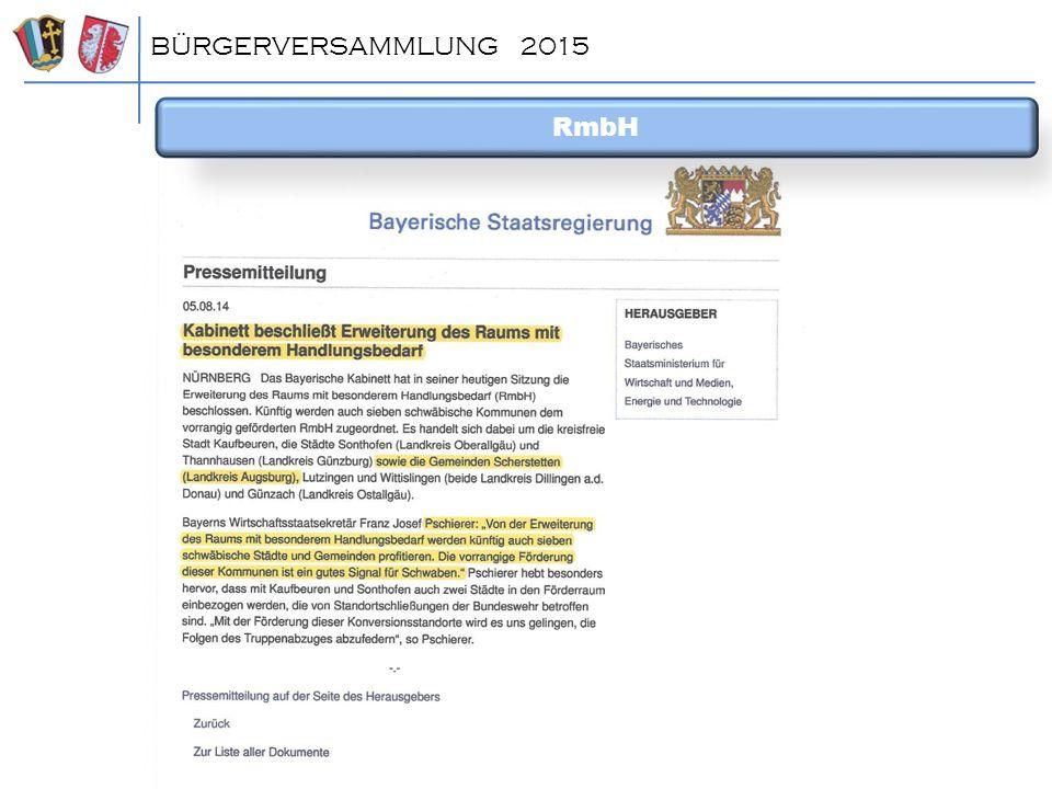 BÜRGERVERSAMMLUNG 2015 RmbH