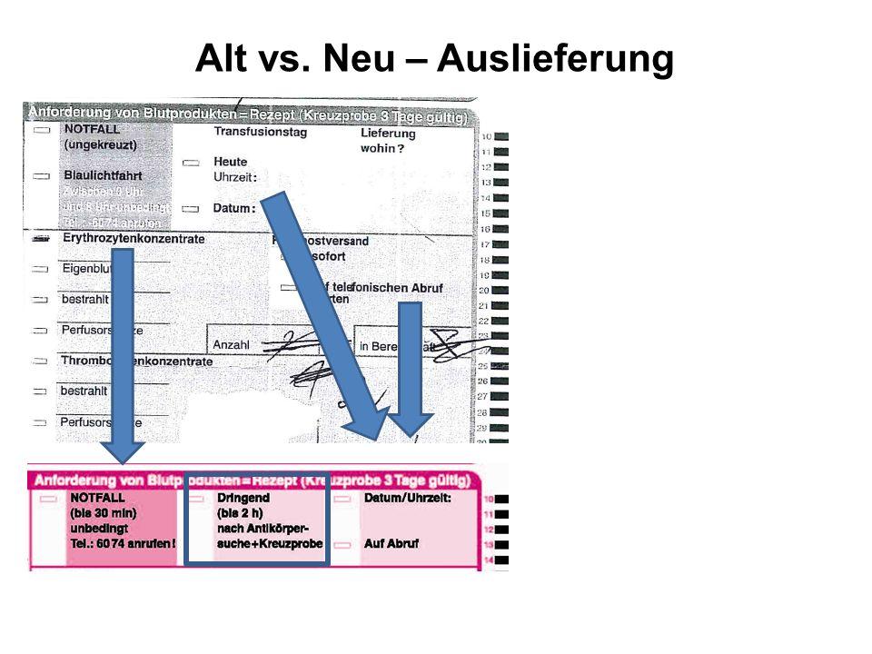 Alt vs. Neu – Auslieferung
