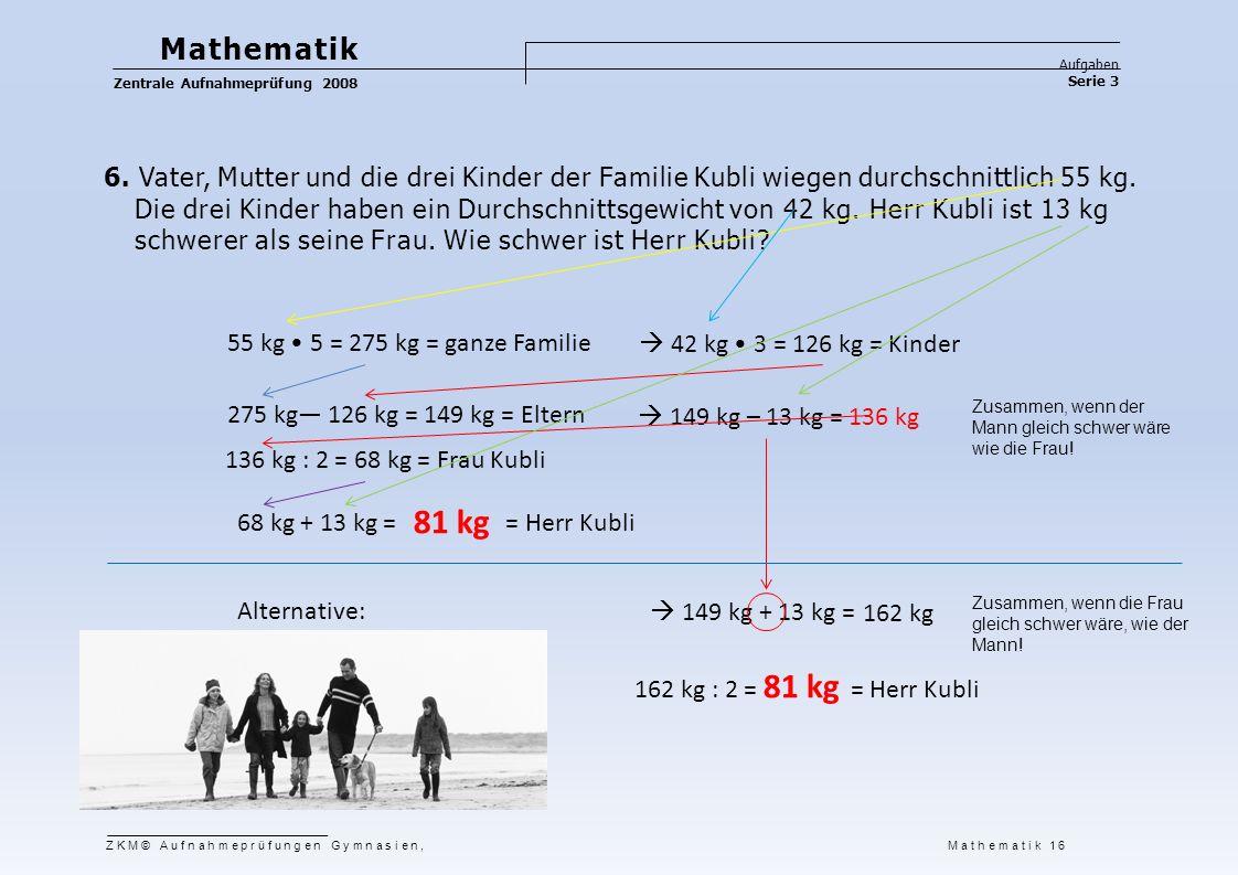Mathematik Aufgaben Serie 3 Zentrale Aufnahmeprüfung 2008 7.