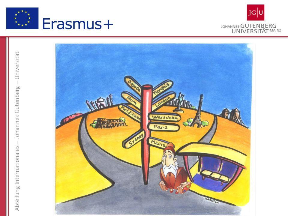 Informationsveranstaltung zum ERASMUS-Programm englischsprachiges und nichtenglischsprachiges Ausland 11.