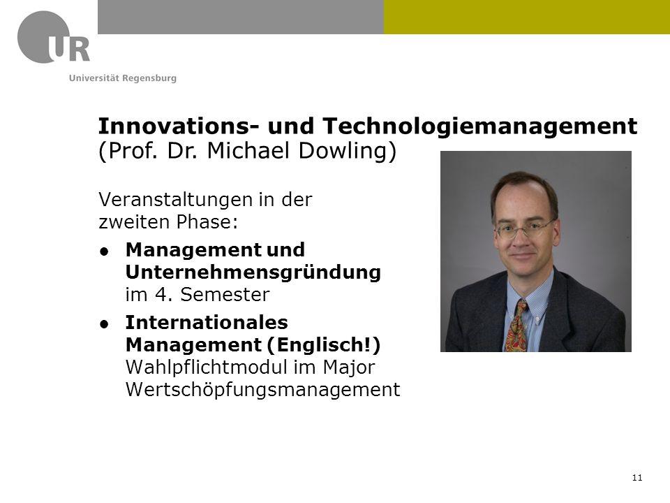 Veranstaltungen in der zweiten Phase: ●Management und Unternehmensgründung im 4. Semester ●Internationales Management (Englisch!) Wahlpflichtmodul im