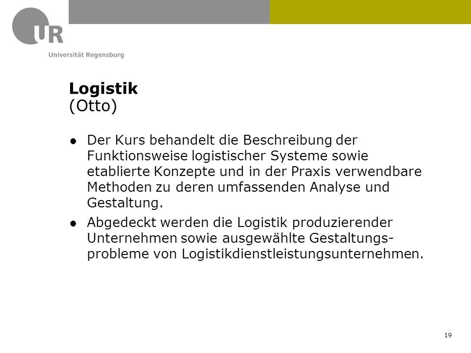 ●Der Kurs behandelt die Beschreibung der Funktionsweise logistischer Systeme sowie etablierte Konzepte und in der Praxis verwendbare Methoden zu deren