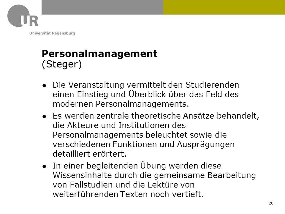 ●Die Veranstaltung vermittelt den Studierenden einen Einstieg und Überblick über das Feld des modernen Personalmanagements. ●Es werden zentrale theore