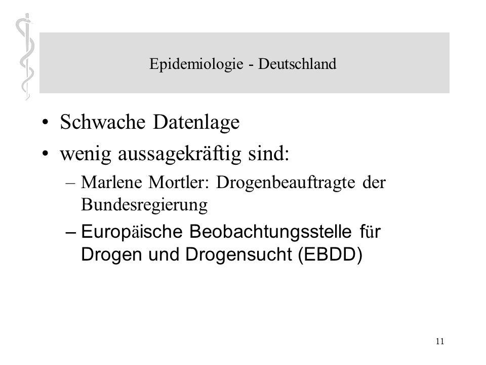 10 (1) Weaver et al. Designer drugs 2015: assessment and management Konsumgründe: –Faktoren wie Neuheiten, gutes Marketing und flächendeckende Verfügb