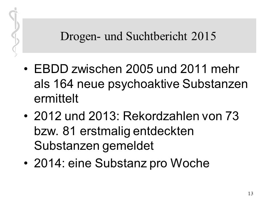 12 Drogen- und Suchtbericht. Online verfügbar unter http://www.drogenbeauftragte.de/fileadmin/dateienba/Service/Publikationen/2015_D rogenbericht_web_