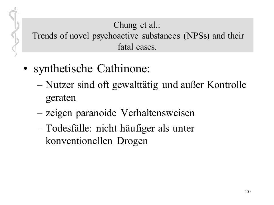 19 Chung et al.: Trends of novel psychoactive substances (NPSs) and their fatal cases. Erfahrungen der ostasiatischen Drogenkonsumenten: –Gefühle der