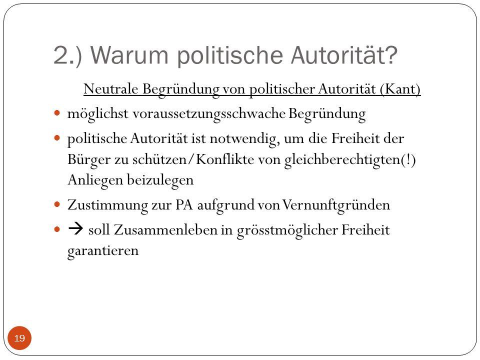 2.) Warum politische Autorität.