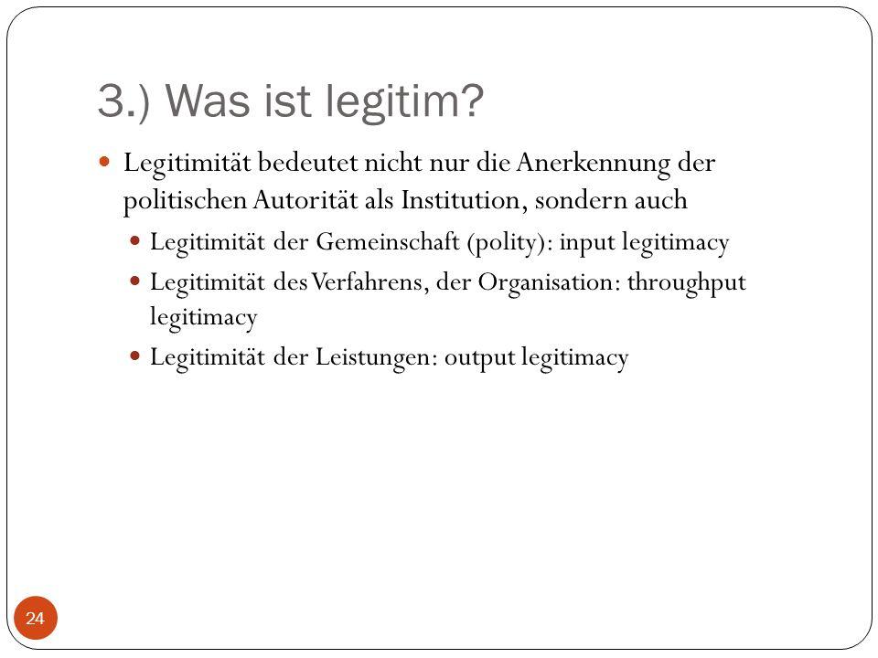 3.) Was ist legitim.