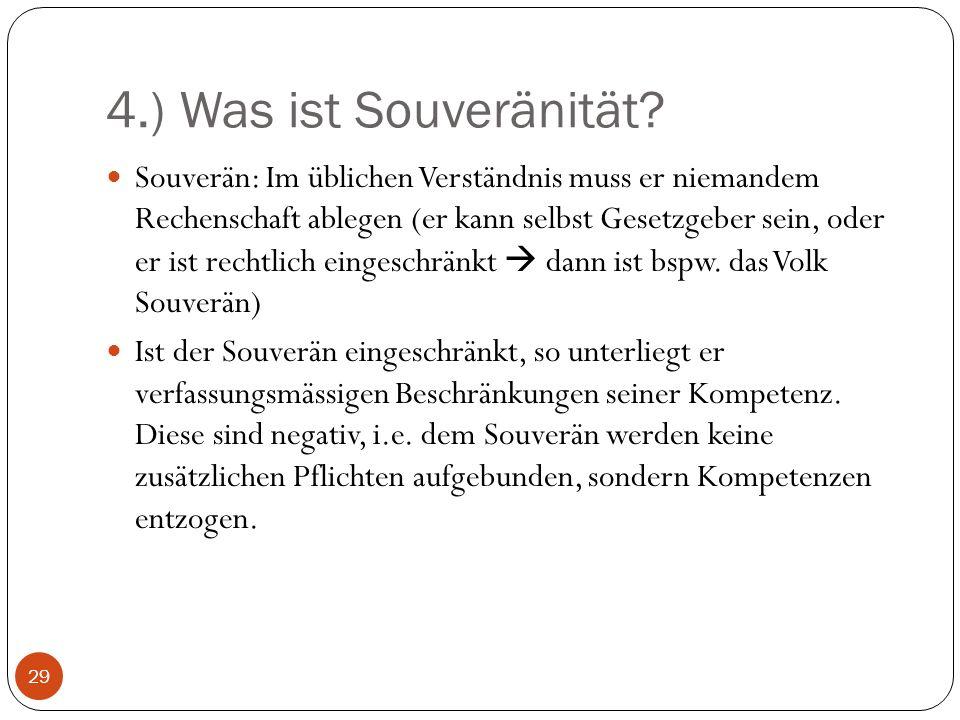 4.) Was ist Souveränität.