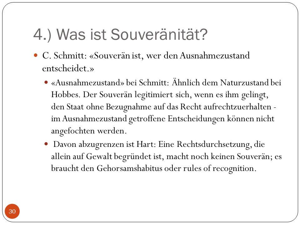 4.) Was ist Souveränität.C.