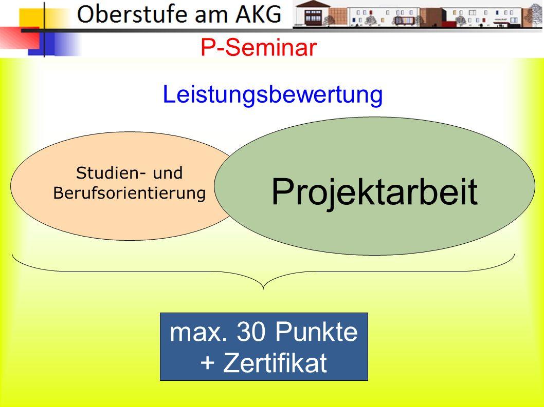 P-Seminar Studien- und Berufsorientierung Projektarbeit max.