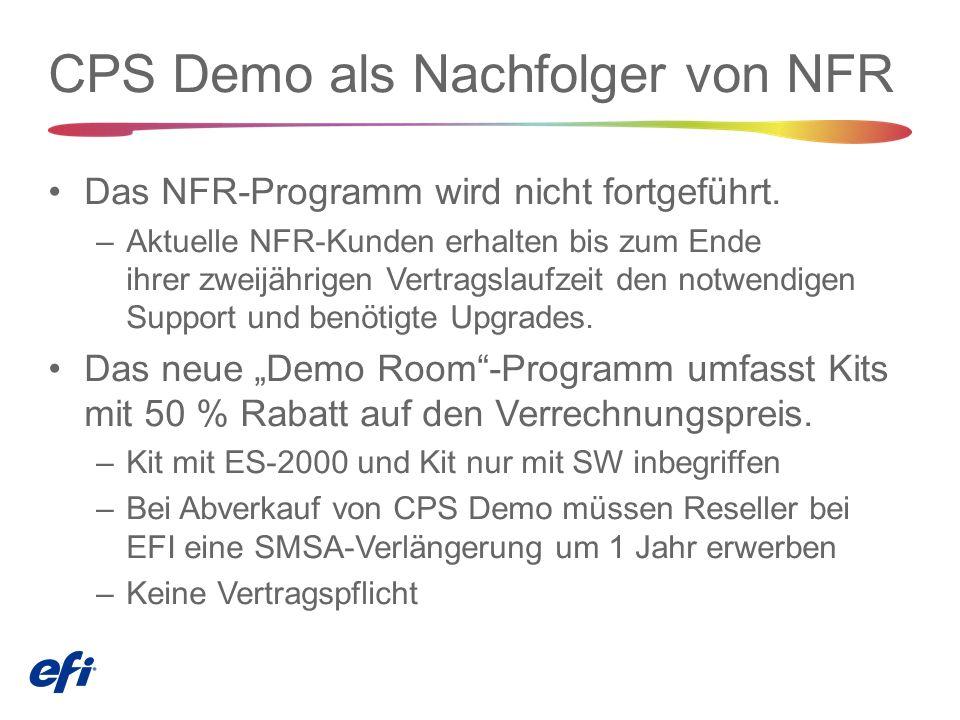 CPS Demo als Nachfolger von NFR Das NFR-Programm wird nicht fortgeführt.