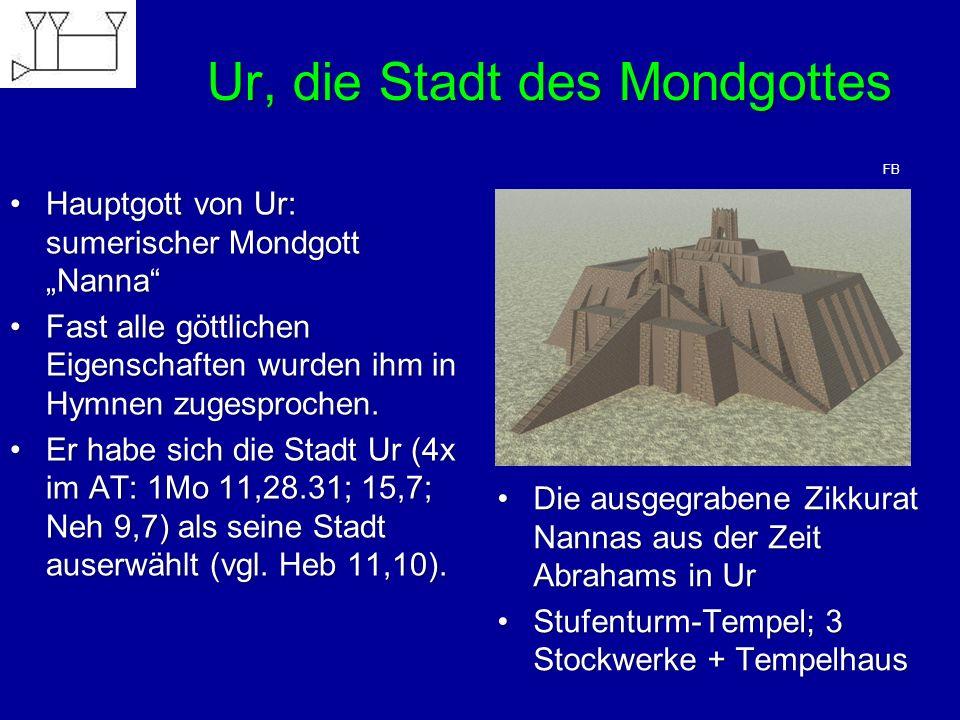 """Ur, die Stadt des Mondgottes Hauptgott von Ur: sumerischer Mondgott """"Nanna""""Hauptgott von Ur: sumerischer Mondgott """"Nanna"""" Fast alle göttlichen Eigensc"""