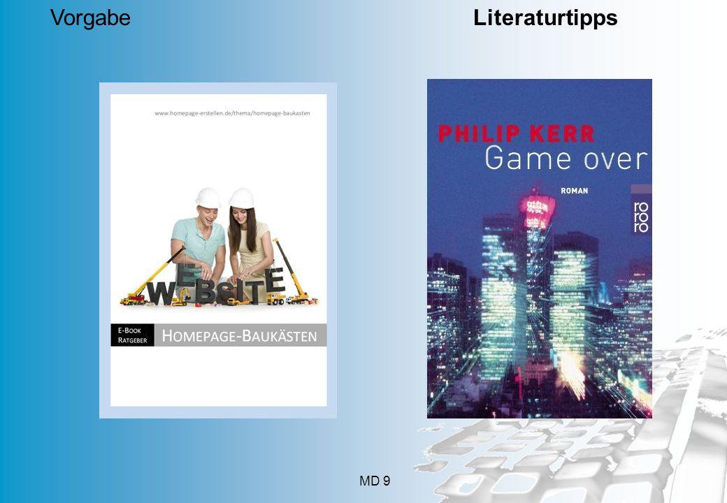 MD 9 Vorgabe Literaturtipps