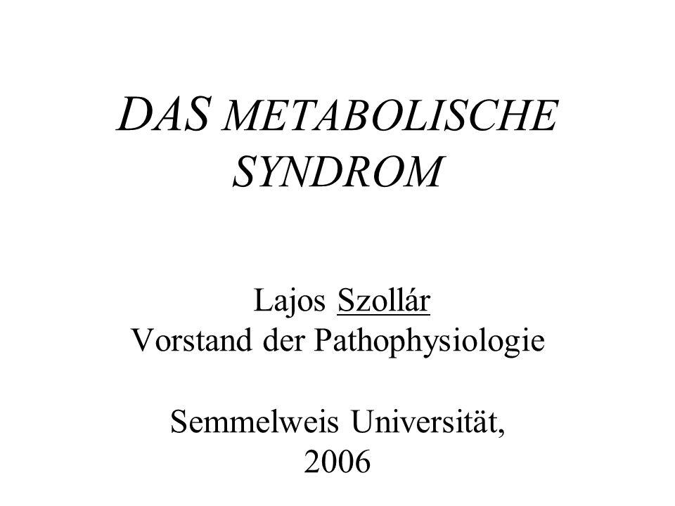 Die 4 Leitsymptome des metabolischen Syndroms