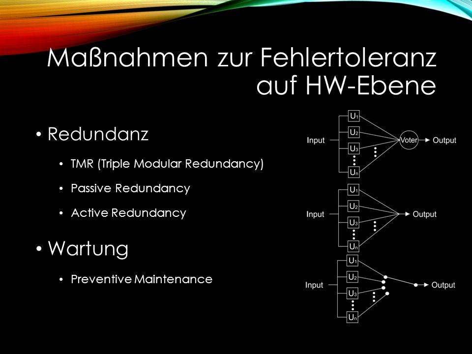 Quellen Quellenangaben: www.itwissen.info/definition/lexikon/Fehlertoleranz-FT-fault-tolerance.html http://ira.informatik.uni-freiburg.de/teaching/ppp-2002/Spoeri-Ausarbeitung.pdf https://ess.cs.tu- dortmund.de/Teaching/WS2012/SFt/Downloads/ausarbeitungen/Julian_Kuerby.pdf https://ess.cs.tu- dortmund.de/Teaching/WS2012/SFt/Downloads/ausarbeitungen/Julian_Kuerby.pdf https://de.wikipedia.org/wiki/Fehlertoleranz https://de.wikipedia.org/wiki/Hamming-Code http://people.csail.mit.edu/grishac/papers/allerton.pdf http://www.webopedia.com/TERM/S/soft_error.html http://www.webopedia.com/TERM/H/hard_error.html http://www.ibiblio.org/apollo/Documents/LaboratoryMaintenanceInstructionsForLVDC- Volume1-GeneralDescriptionAndTheory.pdf http://www.ibiblio.org/apollo/Documents/LaboratoryMaintenanceInstructionsForLVDC- Volume1-GeneralDescriptionAndTheory.pdf https://en.wikipedia.org/wiki/Saturn_V http://iom.invensys.com/EN/Pages/triconex_tricon.aspx http://www.researchgate.net/publication/220716583_A_Solution_to_Single_Point_of_Failure_Us ing_Voter_Replication_and_Disagreement_Detection http://www.researchgate.net/publication/220716583_A_Solution_to_Single_Point_of_Failure_Us ing_Voter_Replication_and_Disagreement_Detection http://liberty.cs.princeton.edu/Publications/cgo3_swift.pdf http://liberty.princeton.edu/Publications/taco05_ft.pdf Bilder: http://www.cin.ufpe.br/~jvob/images/nmr.png https://upload.wikimedia.org/wikipedia/commons/1/13/Apollo_17_The_Last_Moon_Shot_Edit1.jpg https://upload.wikimedia.org/wikipedia/commons/1/13/Apollo_17_The_Last_Moon_Shot_Edit1.jpg figure 1-7.