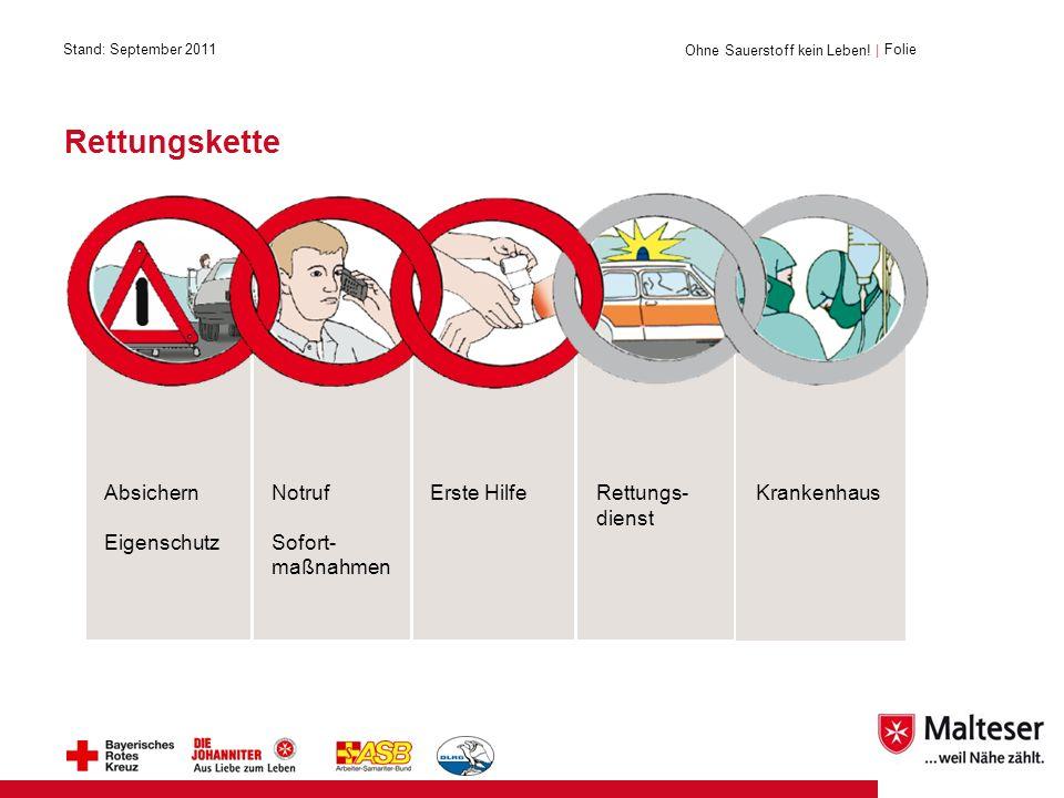 Rettungskette Ohne Sauerstoff kein Leben.