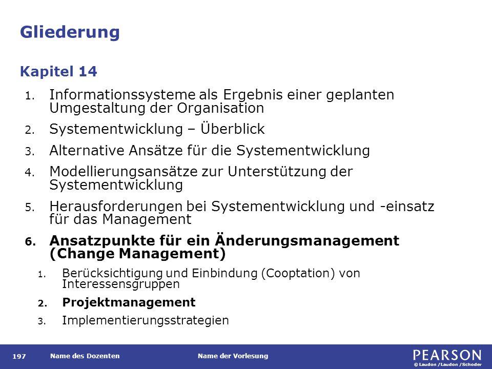 © Laudon /Laudon /Schoder Name des DozentenName der Vorlesung Gliederung 197 1.