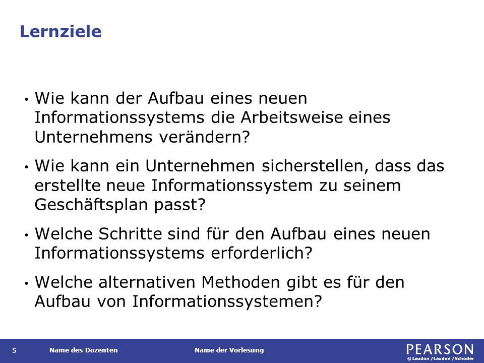 © Laudon /Laudon /Schoder Name des DozentenName der Vorlesung Vergleich der Ansätze zur Systementwicklung 126