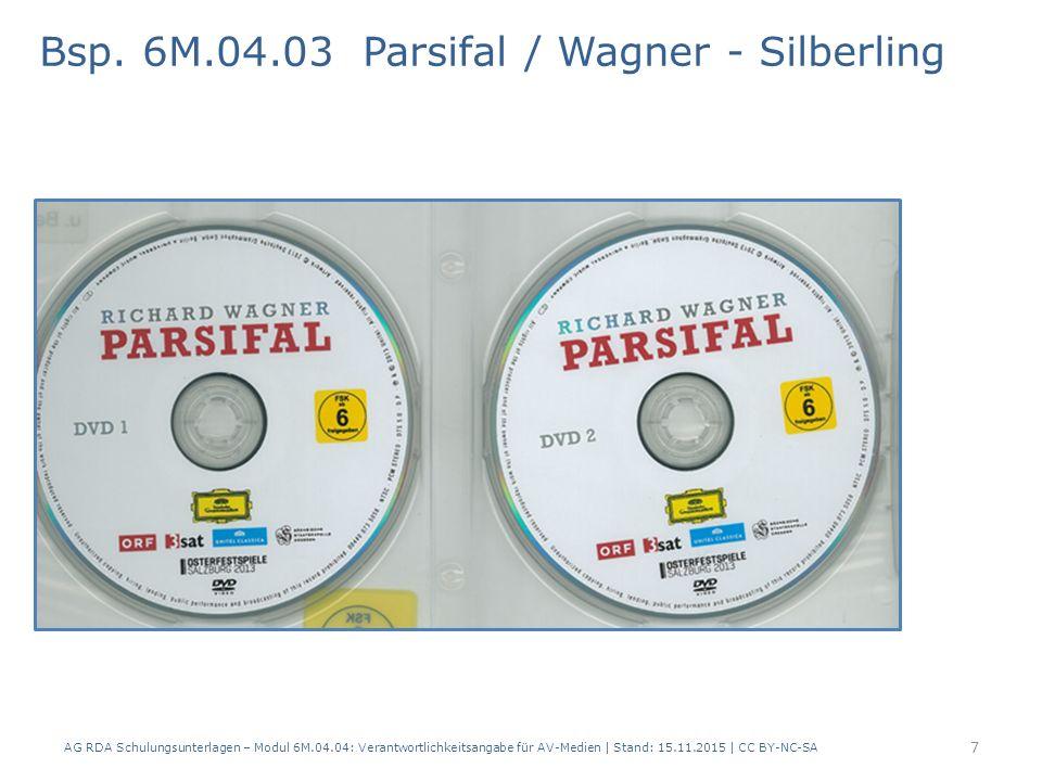 Bsp. 6M.04.03 Parsifal / Wagner - Silberling 7