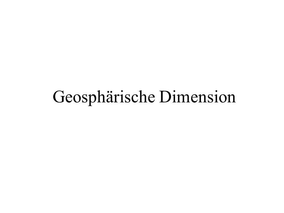 Geosphärische Dimension