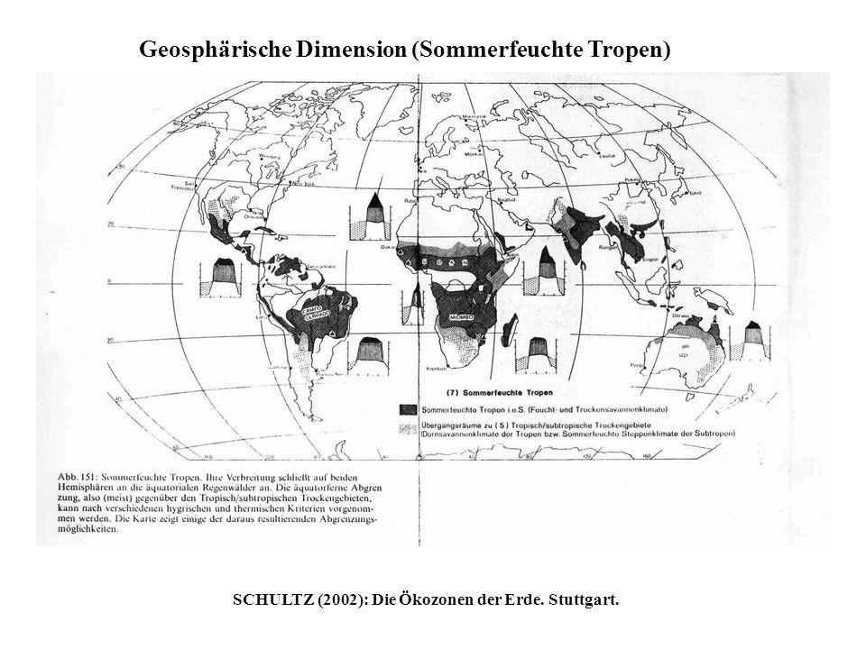 Geosphärische Dimension (Sommerfeuchte Tropen) SCHULTZ (2002): Die Ökozonen der Erde. Stuttgart.