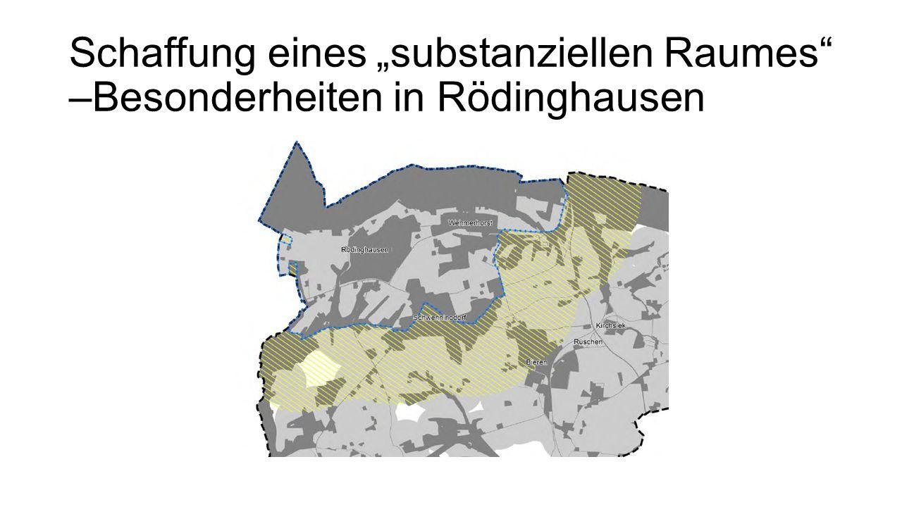 """Schaffung eines """"substanziellen Raumes –Besonderheiten in Rödinghausen"""