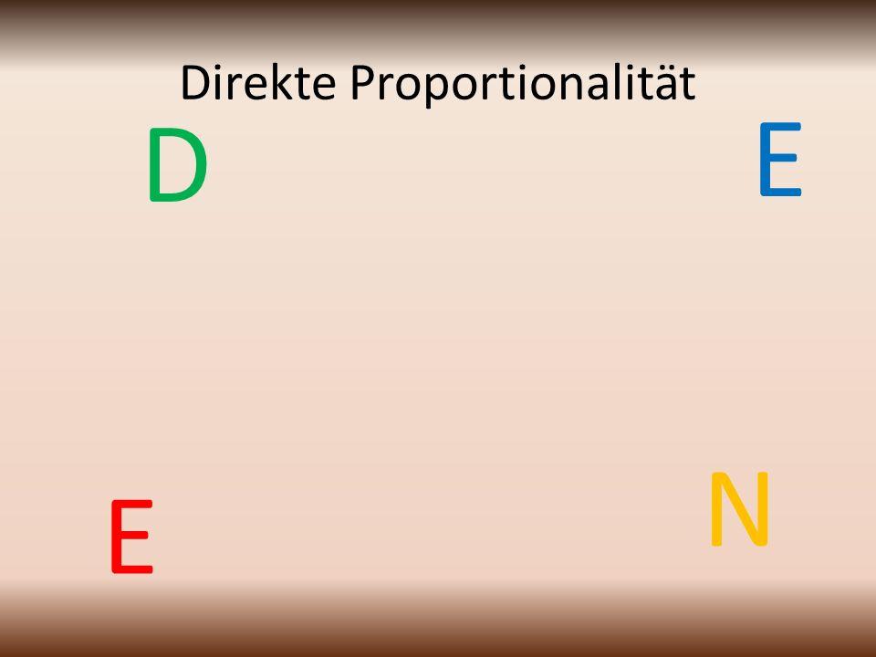 Direkte Proportionalität E N D E