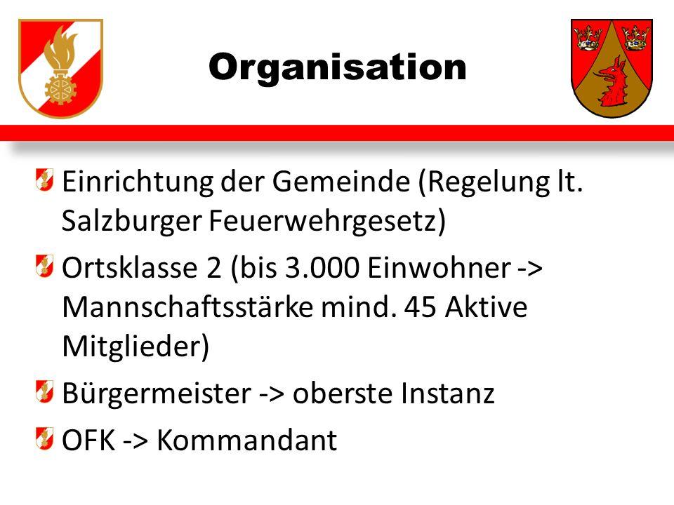 Organisation Einrichtung der Gemeinde (Regelung lt.