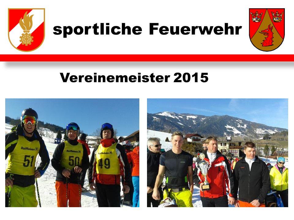 sportliche Feuerwehr Vereinemeister 2015