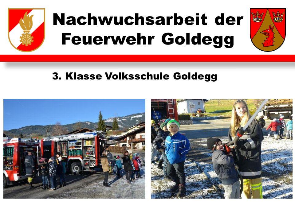 Nachwuchsarbeit der Feuerwehr Goldegg 3. Klasse Volksschule Goldegg