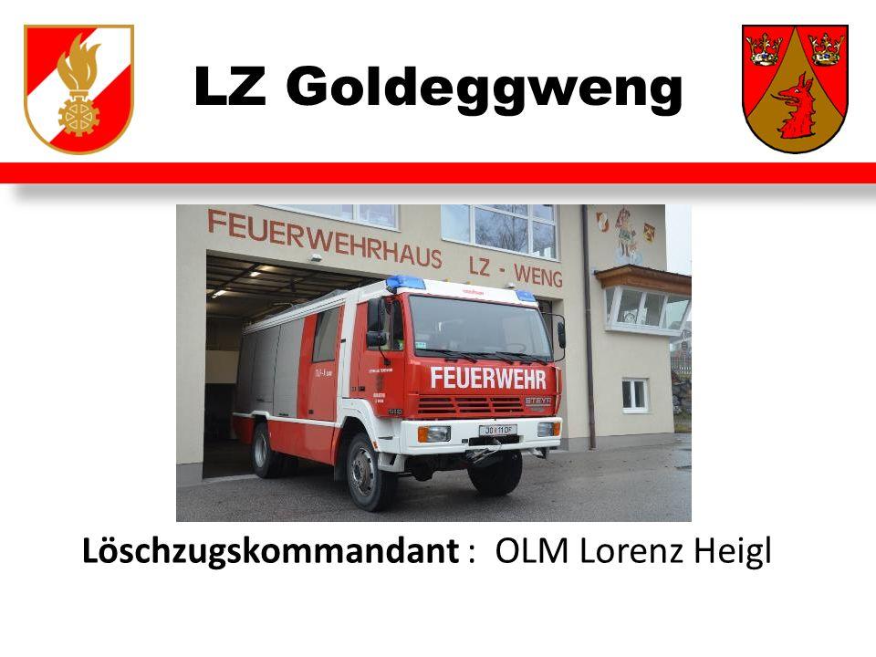 LZ Goldeggweng Löschzugskommandant : OLM Lorenz Heigl
