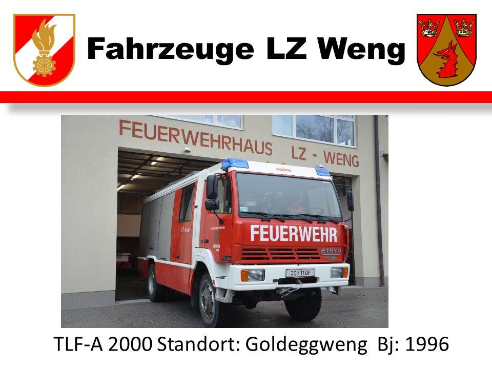 Fahrzeuge LZ Weng TLF-A 2000 Standort: Goldeggweng Bj: 1996