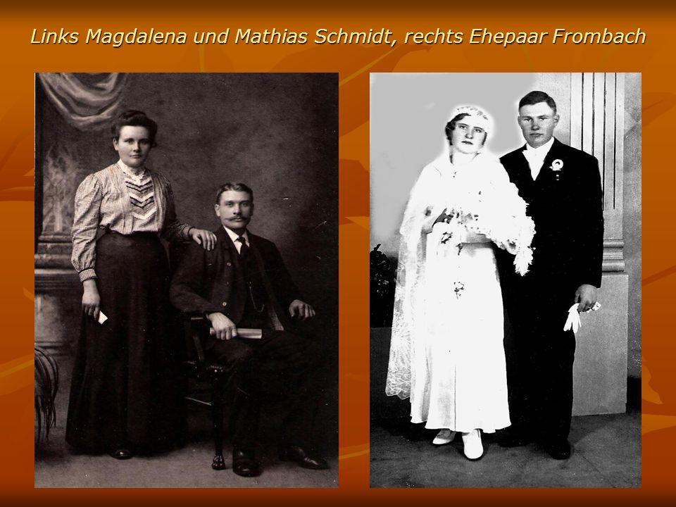 Links Magdalena und Mathias Schmidt, rechts Ehepaar Frombach