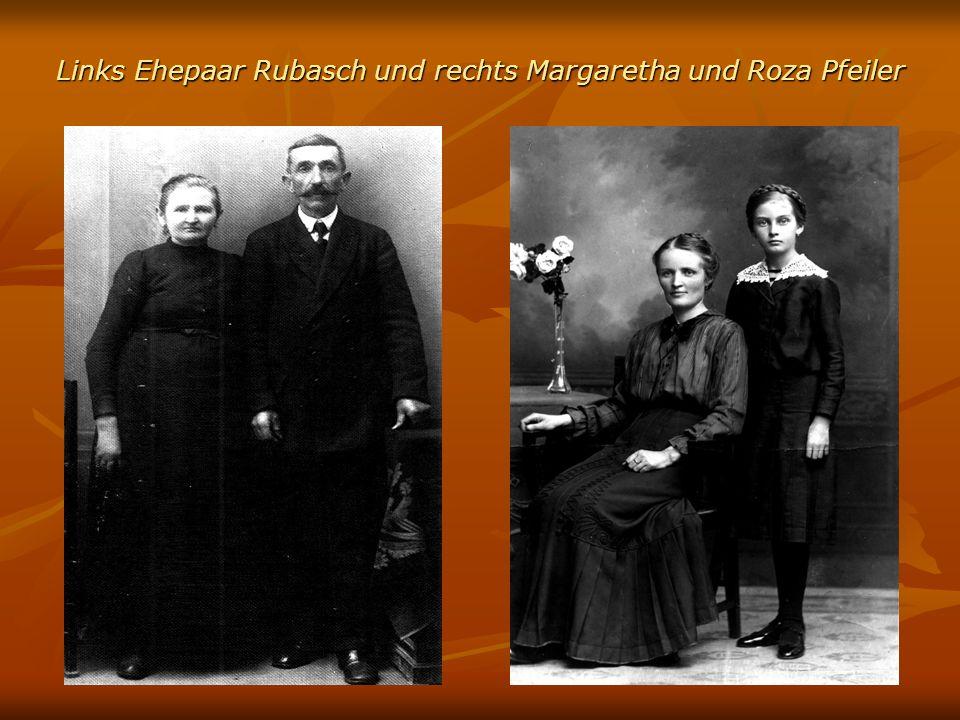 Links Ehepaar Rubasch und rechts Margaretha und Roza Pfeiler
