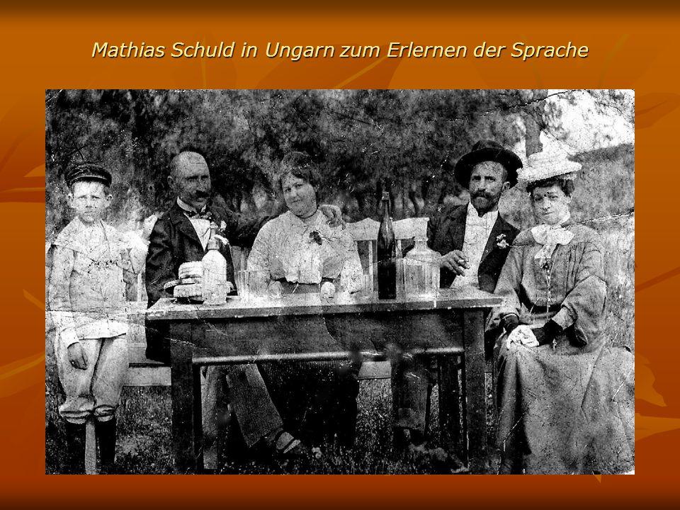 Mathias Schuld in Ungarn zum Erlernen der Sprache