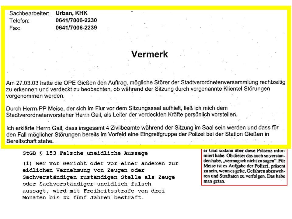 Zugabe: Die Geschichte des Herrn Gail 27.3.2003: Gails erste Lüge – vor dem Parlament