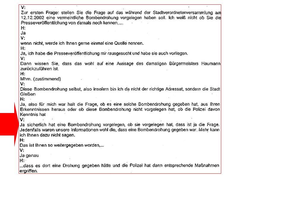 28.3.2003: Die zweite Lüge – gegenüber der Presse Dann lügt auch die Polizei...