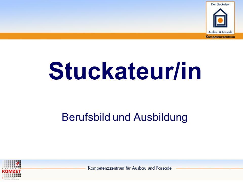 Stuckateur/in - Berufsbild und Ausbildung Energie und Umwelt Oberflächen / Gestaltung / Wohlfühlen Wohnräume schaffen