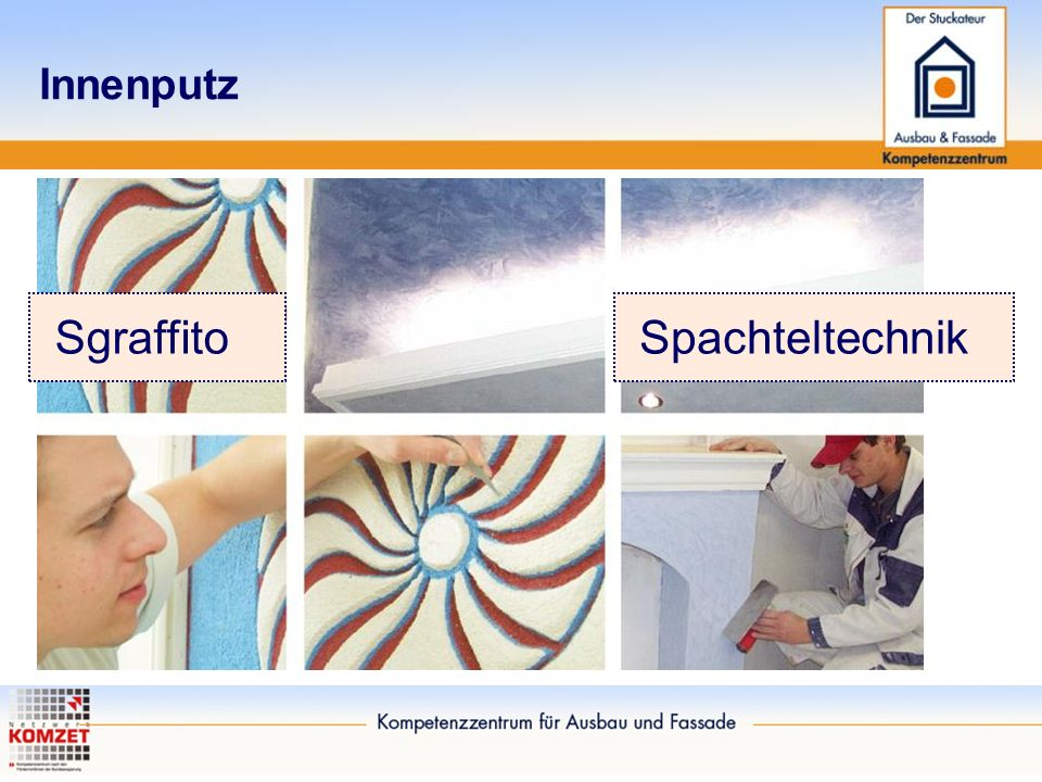 Innenputz SgraffitoSpachteltechnik