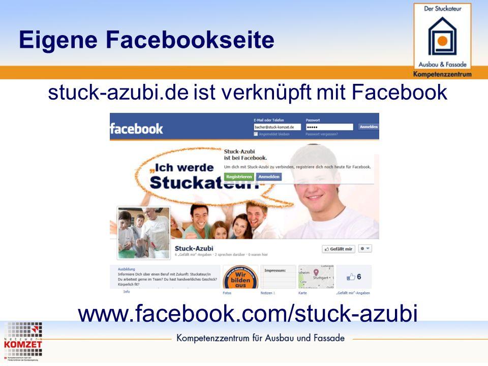 Eigene Facebookseite stuck-azubi.de ist verknüpft mit Facebook www.facebook.com/stuck-azubi