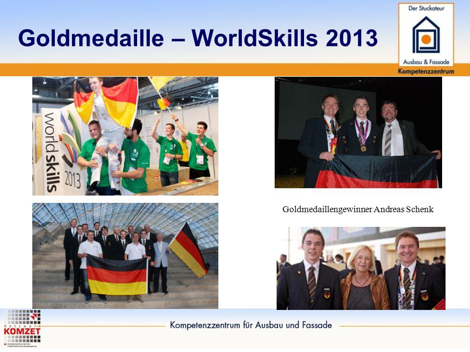 Goldmedaille – WorldSkills 2013 Goldmedaillengewinner Andreas Schenk