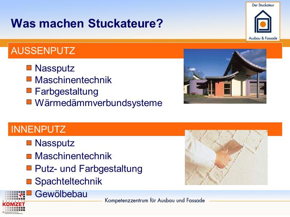 """Die Ausbildung Filme auf www.stuck-azubi.de und auf youtube unter """"Stuckateur"""