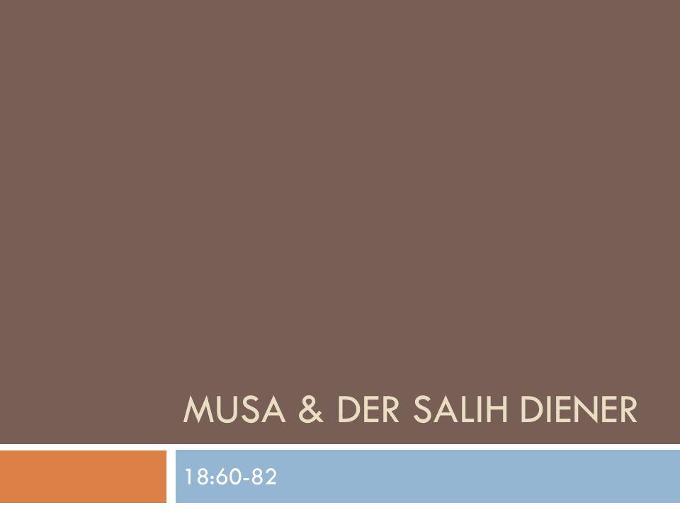 MUSA & DER SALIH DIENER 18:60-82